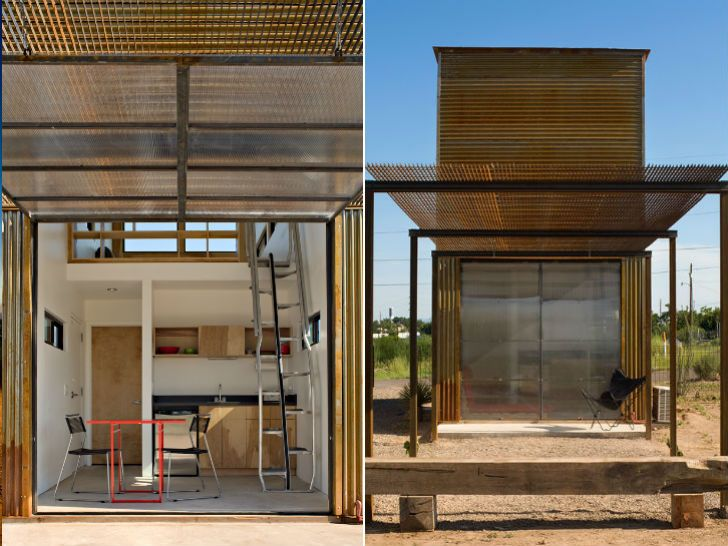 Tiny Stacked Marfa 10x10 House Is A Minimalist Artistic