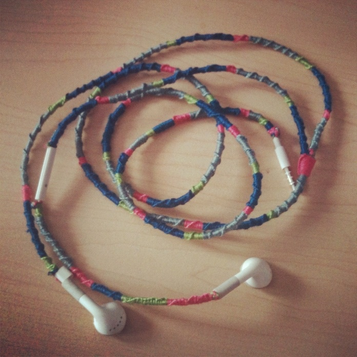 Took me over 3 hours but finally finished my earbuds! No more tangles!!
