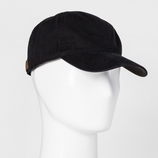 Whether you're going sporty or casually chic, this Washed Baseball Cap from Goodfellow & Co.™ is the perfect accessory. With the classic fit and the subtle washed style, this will quickly become your go-to look. Especially on days when your hair isn't looking its best, just slip this baseball hat on and go.