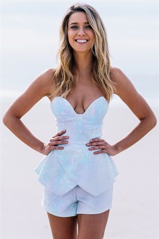 cute sparkly Playsuits | SABO SKIRT. plunging neckline