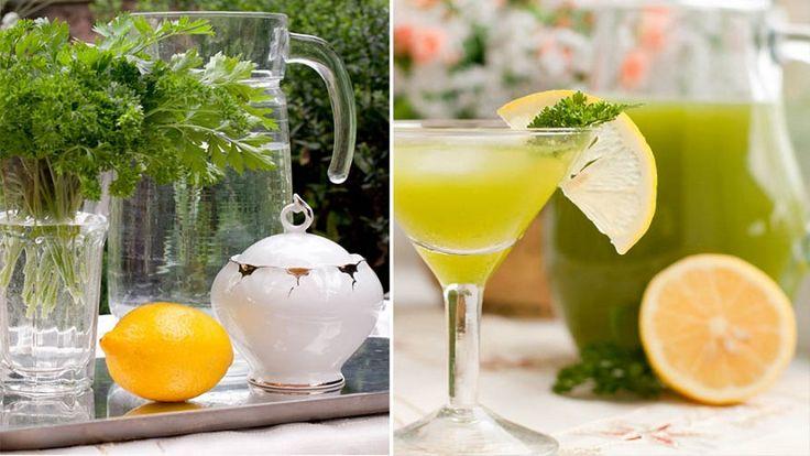 Петрушка и лимон - напиток, который помогает очистить организм
