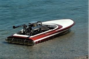 Vintage V-drive Flat Bottom Boat