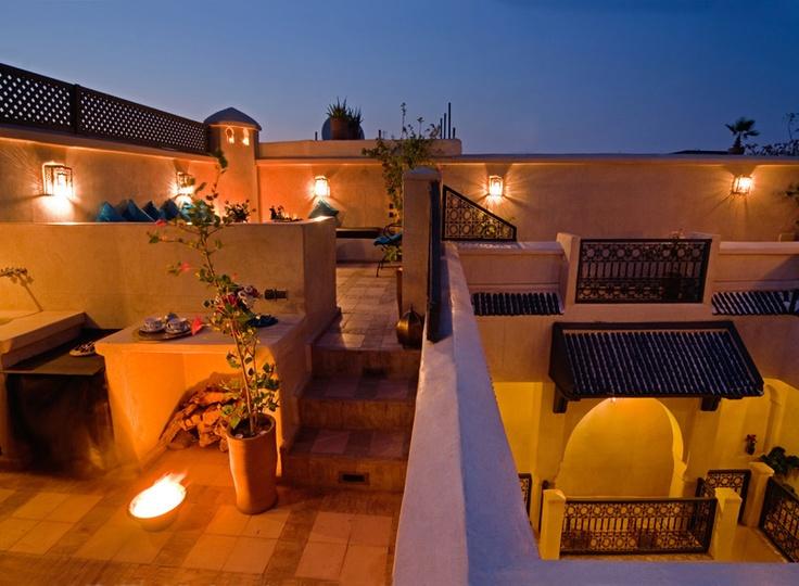 Riad Papillon rooftop terras, Marrakech