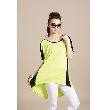 Women's Contrast Color Losse T Shirt