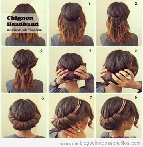 Tutorial peinado fácil y sencillo con diadema, paso a paso