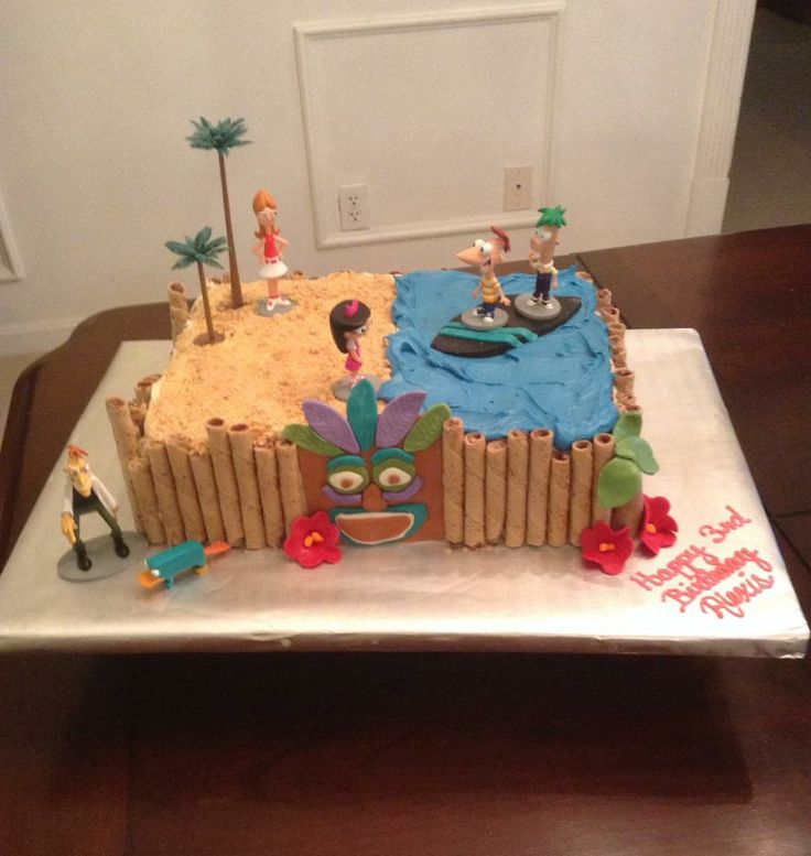 Phineas And Ferb Backyard Beach Song 25 best awsome cakes images on pinterest | biscuits, decorated cakes