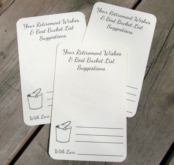Set of 12 Retirement Wishes Advice Bucket by FreeSpiritCrafting