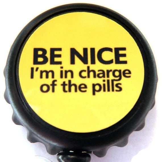 Nurse Retractable ID Badge Reel, ID Badge Holder, Retractable ID, Badge Clip, Name Tag, I D Badge Clip, I D Holder. $5.00, via Etsy.