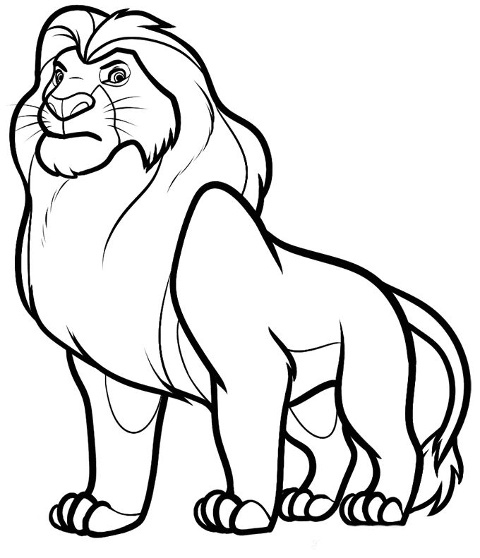 lion king coloring pages google - photo#15