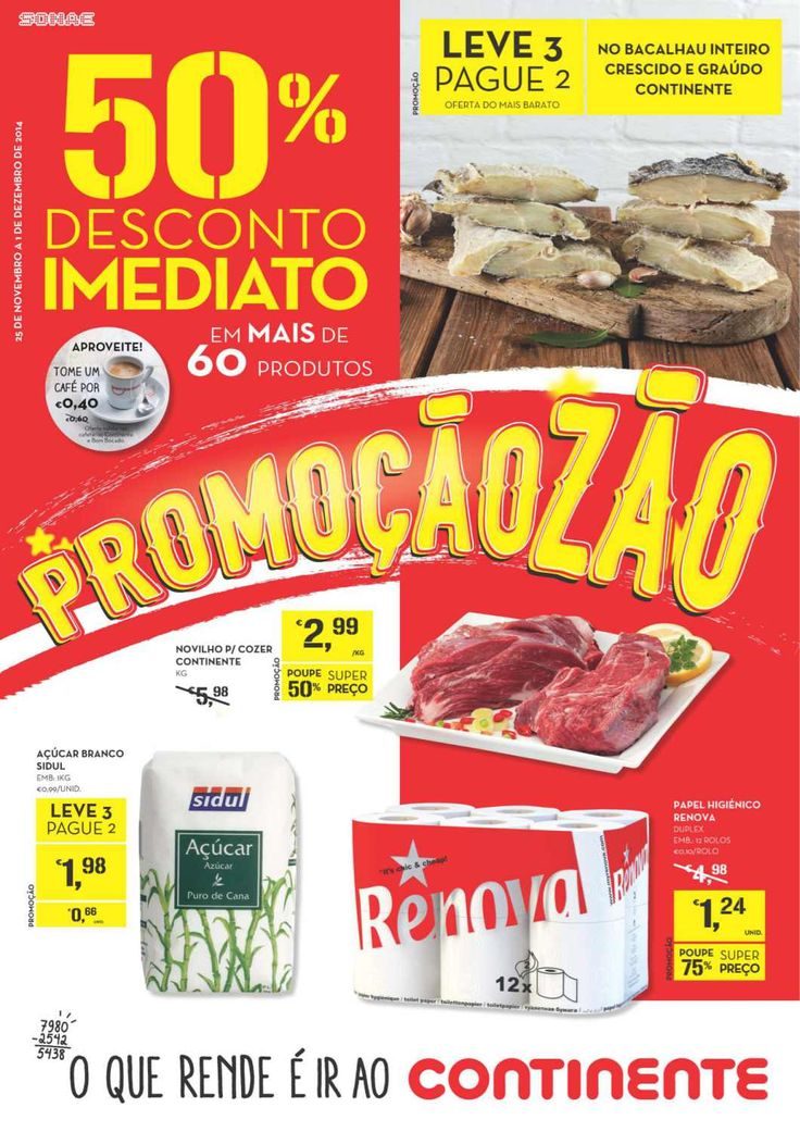 Achei interessante este folheto no SAPO promos: http://promos.sapo.pt/folheto/supermercado-continente-promocaozao-50-desconto-imediato-60-produtos-7453-24-11-2014/pagina/1#