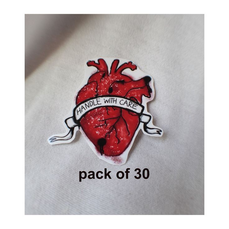 Heart shipping label/graffiti heart outdoor vinyl sticker