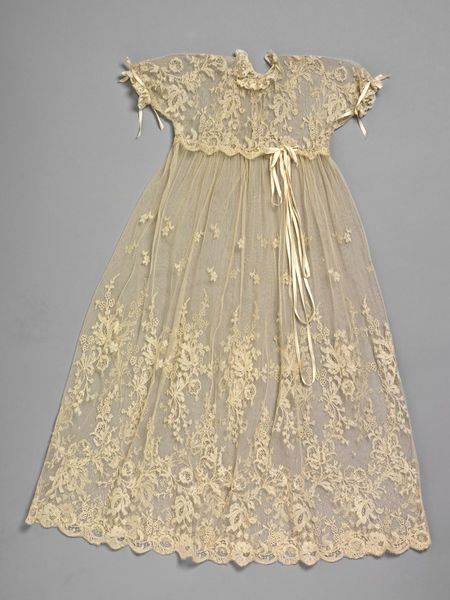 1937 Christening gown of delicate lace and satin baby ribbon.  It would be worn with an under gown, Great Britain. Via Search the Collections.