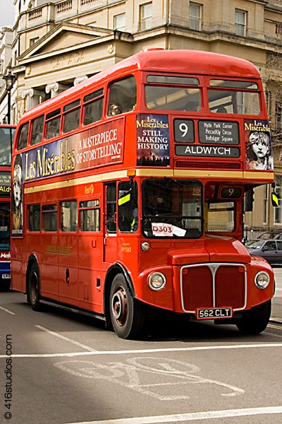 Old Routemaster Bus, Central London