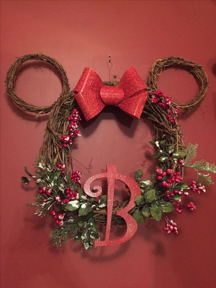 Disney monogram wreath