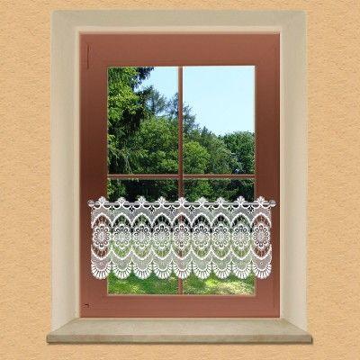 Spitzengardine Katarina - Plauener Spitze am Fenster