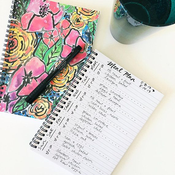 Perfect bullet journaling notebook, shop @ Dashes of Happiness on Etsy