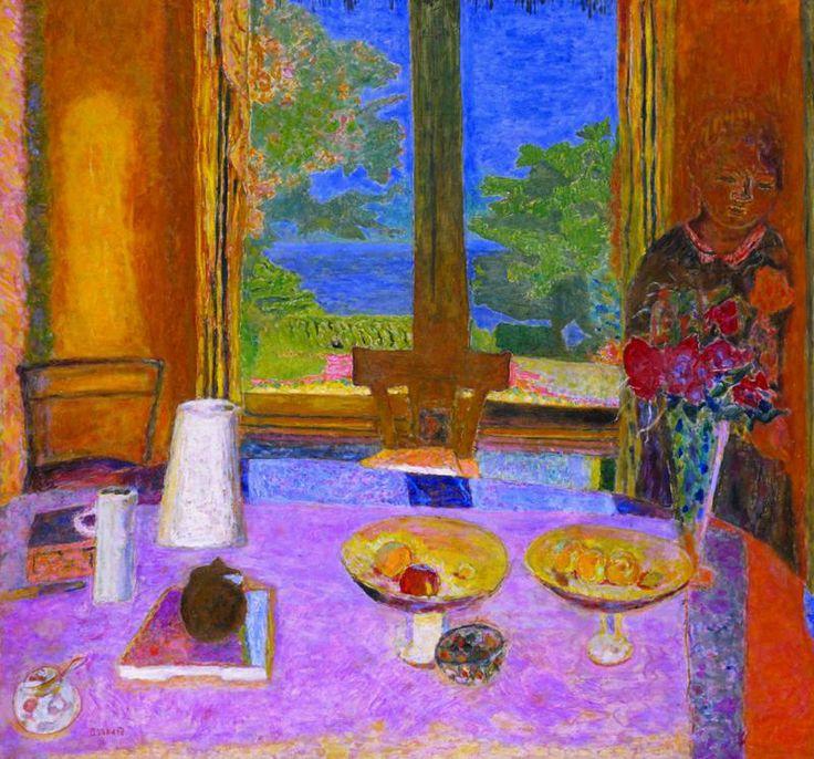 Pierre Bonnard Dining Room Overlooking The Garden The Breakfast Room