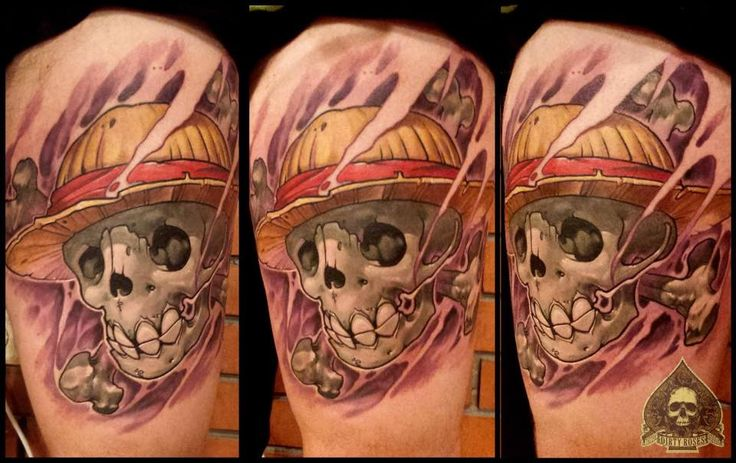 Straw hat pirates tattoo