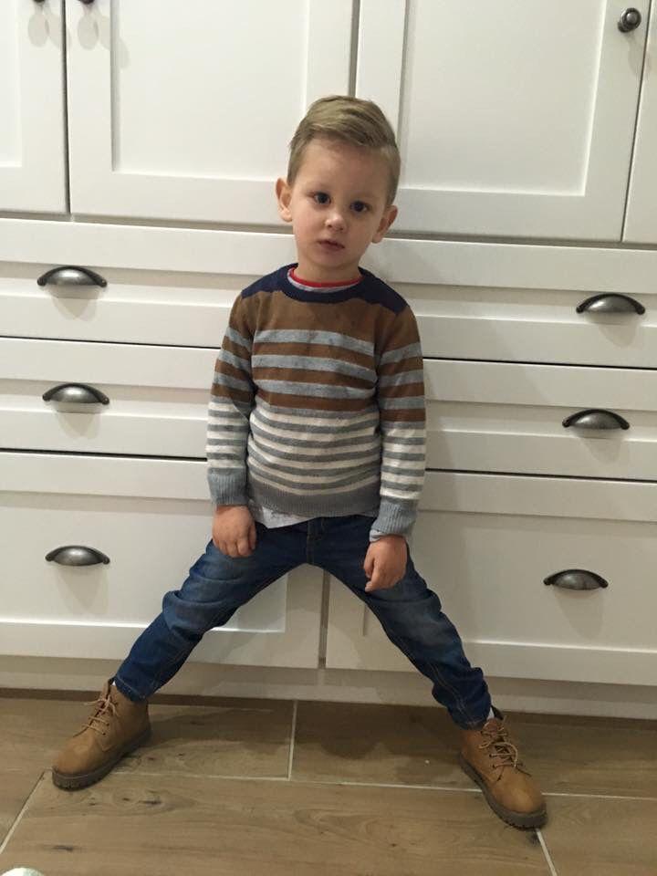 Boys fashion. Toddler fashion. Skinny jeans. Stripe jersey. South Africa. Winter.