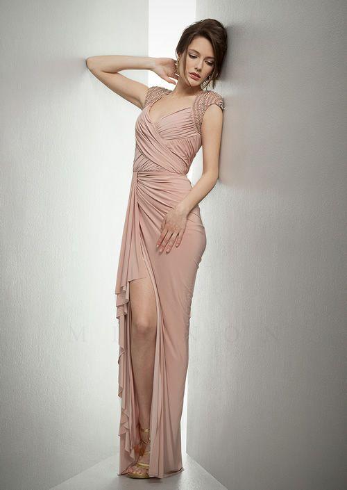 Mignon Vm650 Fall Dresses 2017 Formal Evening Pink Dress Blush