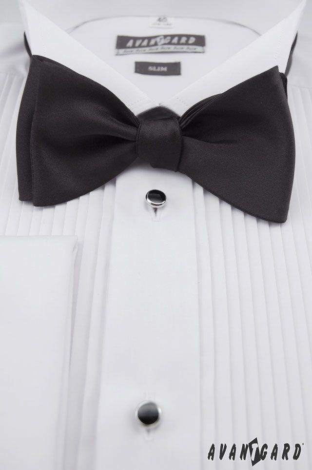 Černý vázací motýlek AVANTGARD /// Black bow tie AVANTGARD