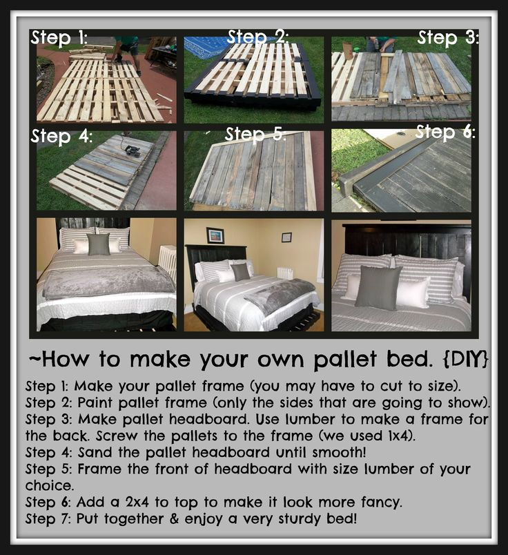87 best images about pallets on pinterest ana white for How to make a platform bed out of pallets