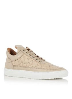 Filling Pieces Low Top Quilted Nude sneaker beige