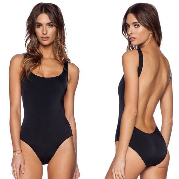 Black low back one piece swimsuit NWT Adorable black one piece, never worn with hygienic liner still attached. Not AA, just using for exposure. American Apparel Swim