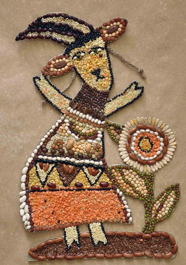 Зернышко к зернышку: замечательные мозаики из круп - Ярмарка Мастеров - ручная работа, handmade