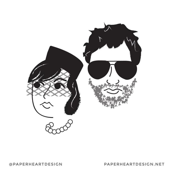 Burt Macklin and Janet Snakehole. April and Andy. Parks and Recreation. Paper Heart Design (@paperheartdesign) on Instagram
