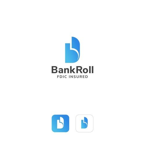 Bankroll �20Logo Design - Spend While You Save personal finance app Bankroll
