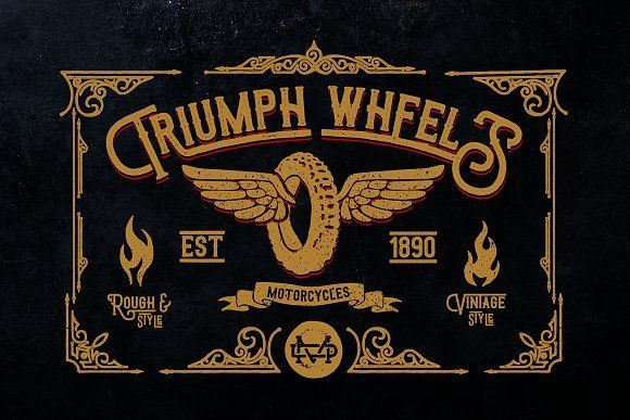 Hello I'm really excited to introduce, Triumph Wheels inspired from american style font with cool character! There are more than 350 glyphs in the font including.