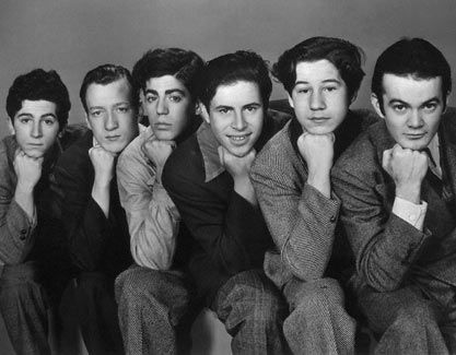 """""""The Dead End Kids"""", who later became """"The Bowery Boys"""".  I loved watching their movies on TV back in the 50s.  (Leo Gorcey as Terrence Aloysius """"Slip"""" Mahoney & Huntz Hall as Horace Debussy """"Sach"""" Jones)"""