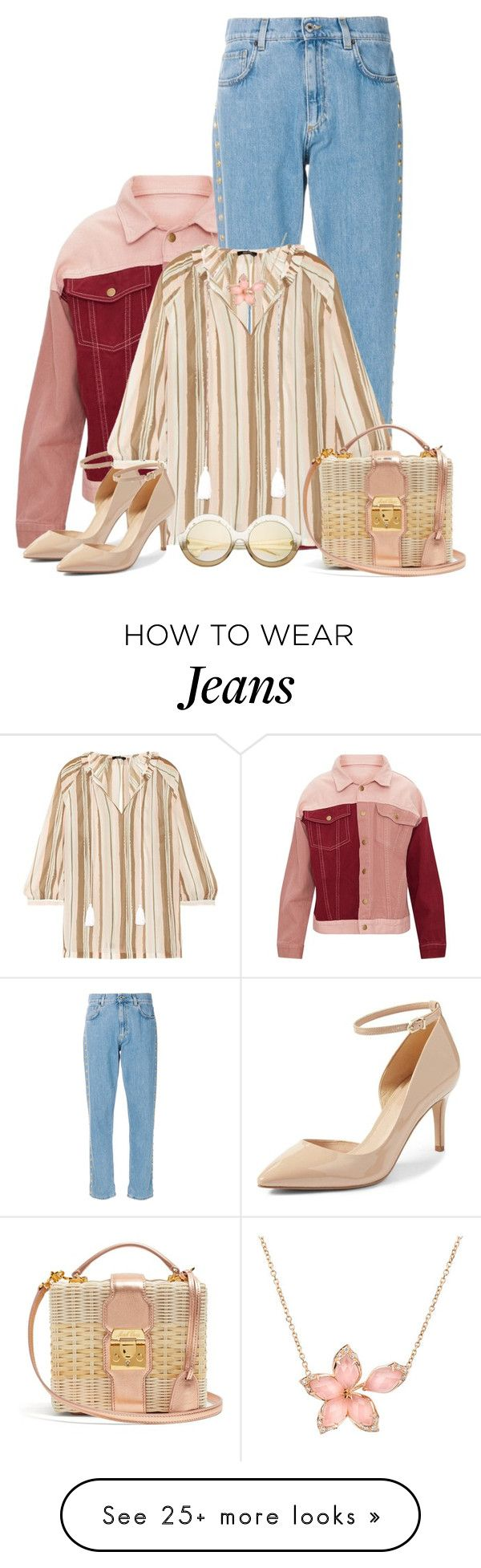 """Stripes that define. IV"" by tuomoon on Polyvore featuring Moschino, Raoul, Mark Cross and Stephen Webster"