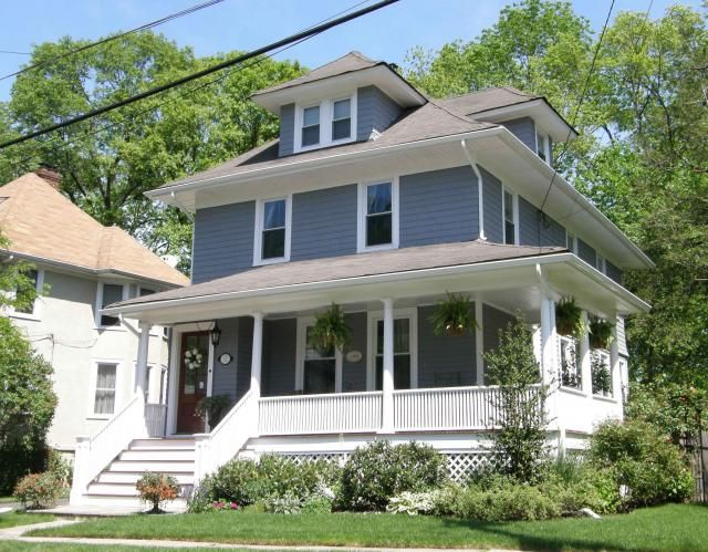 Chatham, NJ - Completed in July of 1911, many original features are on display in this fine example of the American Four Square design.