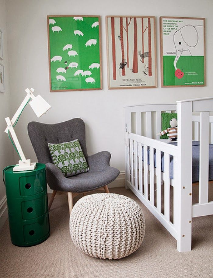 baby room with a touch of green by Nicole Rosenberg