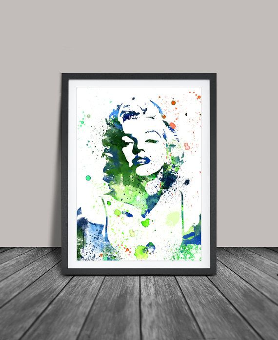 Marilyn Monroe Watercolour Painting Marilyn by FineArtCenter