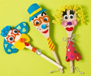 Forget sock puppets -- dress up wooden spoons with felt, googly eyes, and other craft supplies. Let each child put on her own improv show.