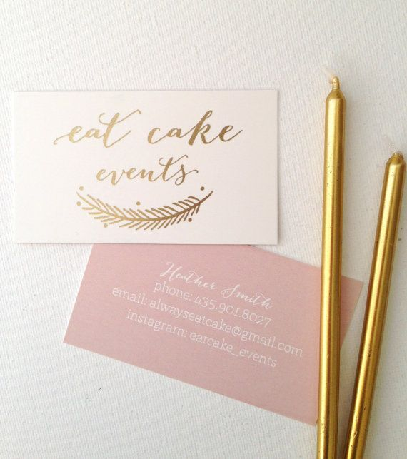 Custom Gold Foil Business Cards by PaperPleaseStudio on Etsy, $70.00