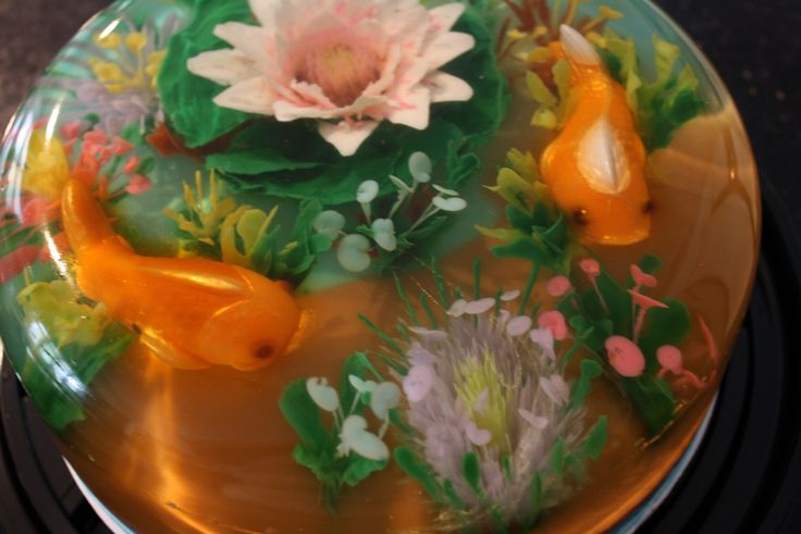Realistic fish pond 100 gluten free this cake has for Moulded fish ponds