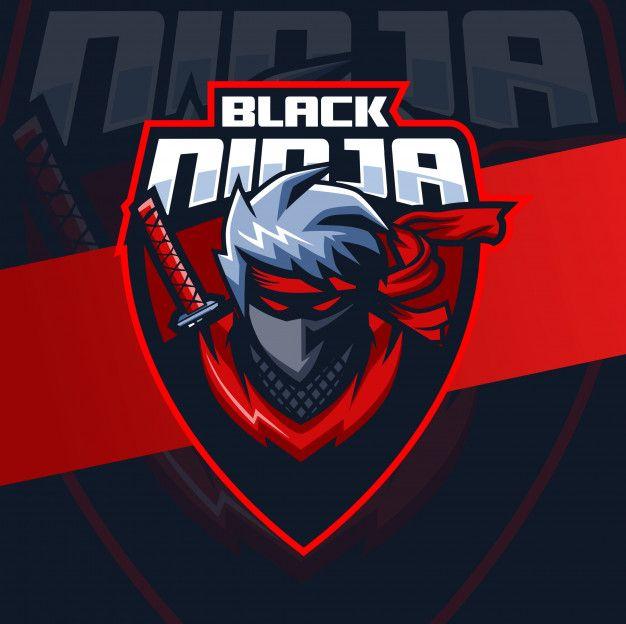 Black Ninja Mascot Esport Logo Design Ninja Logo Logo Design Art Game Logo Design