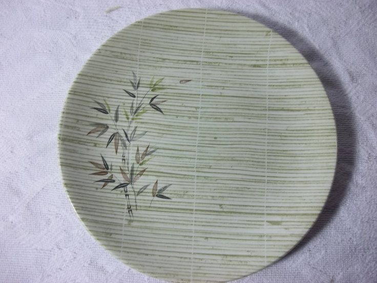 Crown Lynn Mandalay Pattern Bread and Butter Plates, From New Zealand.  via Etsy.