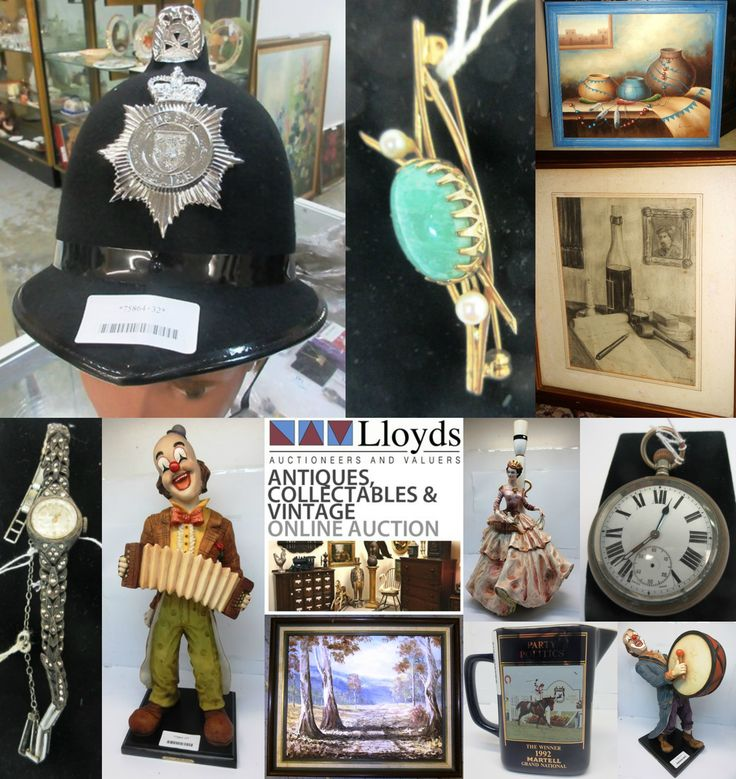 Antique, Collectables & Vintage:  Collectable & Vintage artwork, paintings, furniture, war memorabilia, framed sports memorabilia, jewellery, hunting knives, swords, tea sets, teapots, crystal items, coloured glass, plates, bookends, figurines, statues, wooden items, silverware, jewellery boxes, vases, dolls, clocks, decanters, books, quirky items and much, much more!!!
