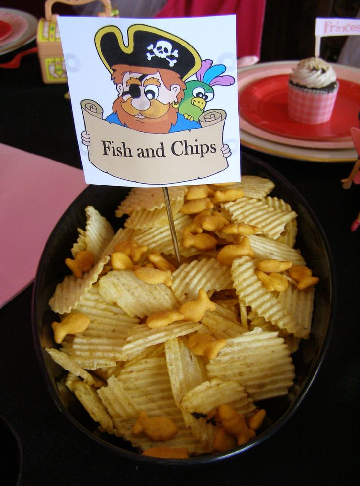 Fairy and Pirate Party Snack ideas!