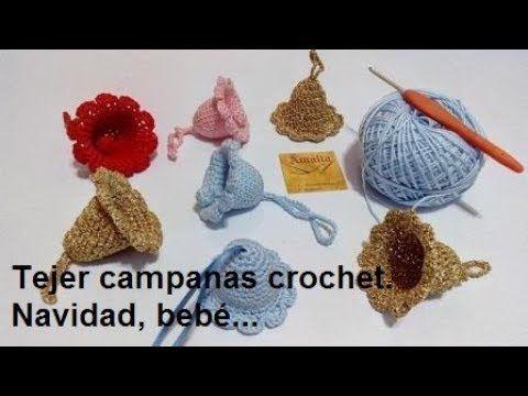 Campanas crochet - YouTube