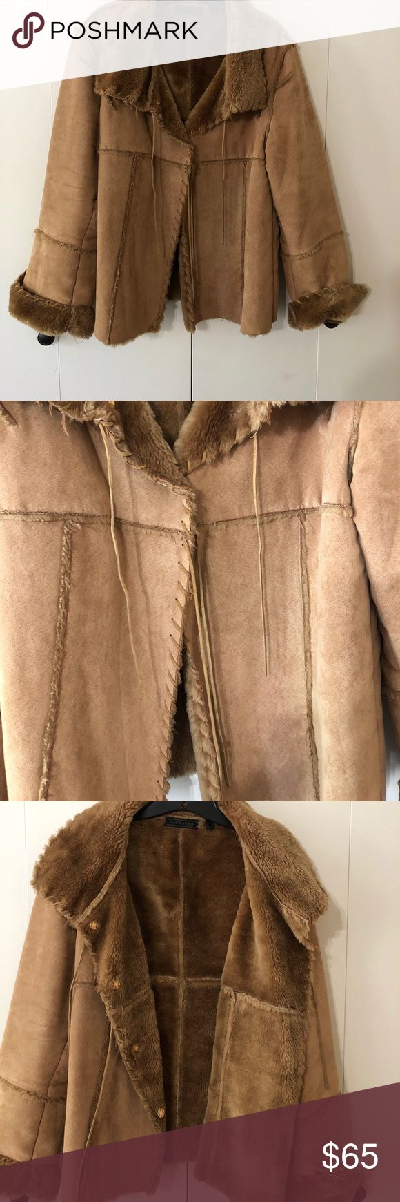 Warm Winter Coat São Paulo Suede Jacket Faux Fur❤️Looks great with jeans and is very warm! Jackets & Coats