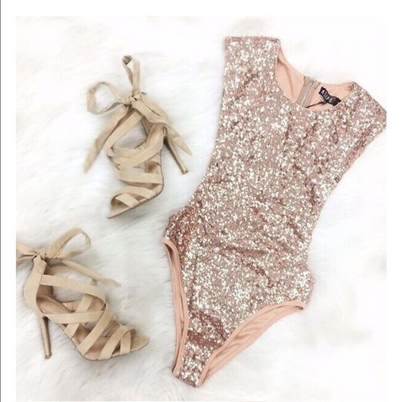 Nasty Gal Tops - 💕✨|| Rose Gold Bodysuit || ✨💕