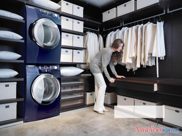 Laundry room in bedroom closet!!