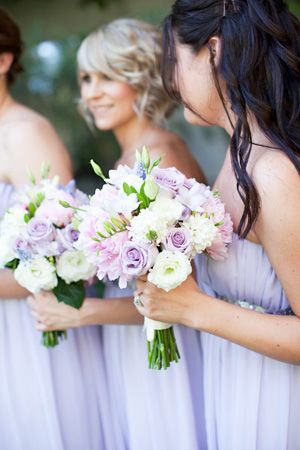 brides of adelaide magazine - lilac wedding - bridesmaids - bouquets