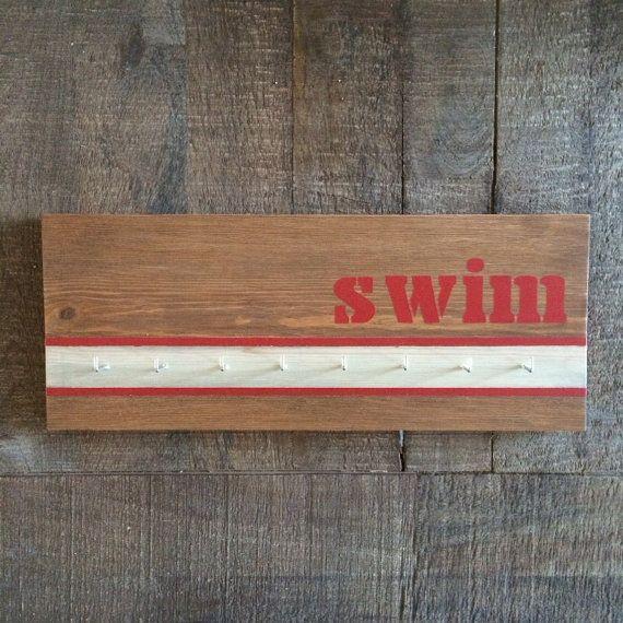Swim Award Ribbon Holder medal holder medal by FreestyleMom